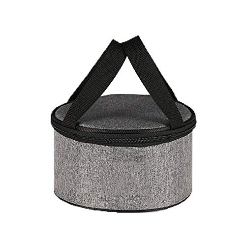 Mettime Bolsa de almuerzo, portátil, bolsa de almuerzo, bolsa de almuerzo pequeña, circular, impermeable, tejido Oxford, lámina de aluminio, aislamiento del forro