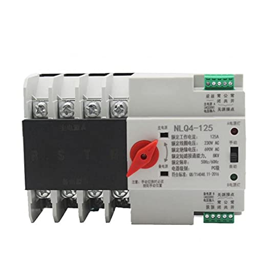 NIDONE Interruptor de Transferencia automática Dual Power 4P AC 380V 63A Campo DE Tornillo DE Almacenamiento Salida DE Electricidad DIN Rail