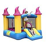 Kinderrutsche mit Schutznetz Großes aufblasbares Schloss draußen Aufblasbares Trampolin for das...
