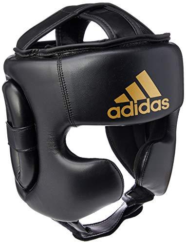 adidas Head Guard Speed Sparring Boxing Training Kopfschutz, Schwarz, Größe S