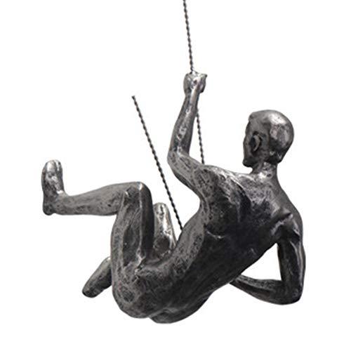 Nirmon Arte Retro DecoracióN de Pared Escalada Resina Colgante Hogar Montaje en Pared Figura Bar Adornos de Pared Estilo Industrial DecoracióN de Pared - C