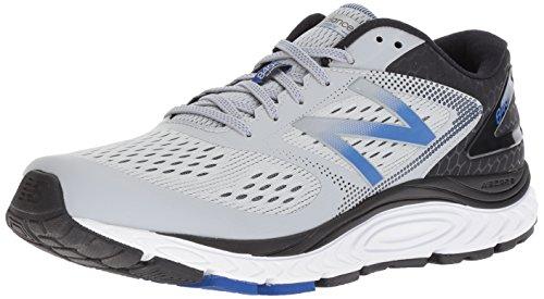 New Balance Men's 840 V4 Running Shoe, Silver Mink/Team Blue, 10