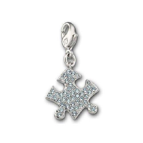 2PCS Juego de Pulseras para Parejas Brazalete de Acero de Titanio CZ Juego de Juego Puzzle Jigsaw Charm Bracelet Birthday Valentine's Gift