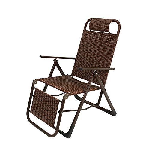Folding table and chair Fauteuil De Jardin en Rotin, Chaise De Dossier Paresseuse, TisséE à La Main | Facile à Plier, pour Balcon, Jardin ExtéRieur