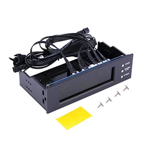 FancysweetyFR Panneau LCD Contrôleur de Vitesse du Ventilateur CPU Affichage de la température 5,25 Pouces Vitesse du Ventilateur PC Contrôleur Durable Contrôle du Ventilateur refroidi à l'air