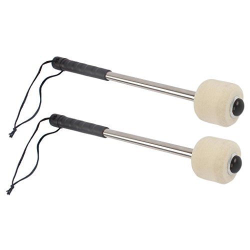 Dovewill 2PCS Bass Drum Mallet Drum Stick Percussion Accessory for Marching Band Best