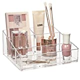 STORi Clear Plastic Vanity Makeup Organizer...
