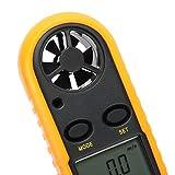 Anemómetro de mano, anemómetro, medidor de velocidad del viento, instrumento de medición portátil para pesca, velocidad del viento, temperatura, navegación