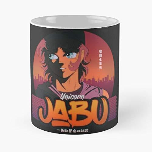 Desconocido Saint Jabu Unicorn Unicornjabu Seiya Bronzesaint Jabudeunicorn Bronze Best Mug Holds Hand 11oz Made from White Marble Ceramic