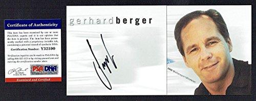 Gerhard Berger signed autograph pamphlet Former F1 Driver PSA/DNA Certified