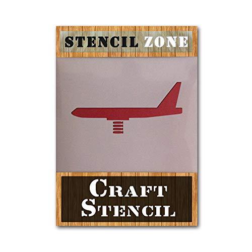 Bommenwerper vliegtuig IRRUSH schilderij muur sjabloon A4 Stencil - Small