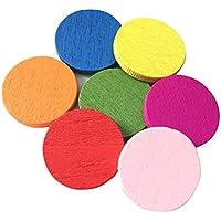 STOBOK 100 Piezas de Madera Pieza de conteo de Colores Círculos Chips Bingo Chips Aprendizaje de los Juguetes de enseñanza para el niño del niño del niño