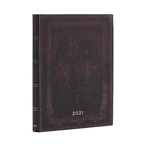 Paperblanks 12 Monatskalender Flexi 2021 (Softcover) Klapp-Version aus Faux-Leder | Tagesüberblick | Ultra (180 ×...