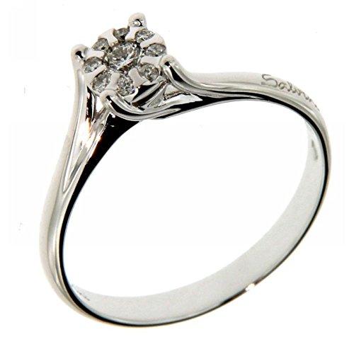 Ring Salvini Collection 2018Daphne Solitaire–Weißgold 18kt. Diamanten 0,12Carat–Ring Hersteller Damiani