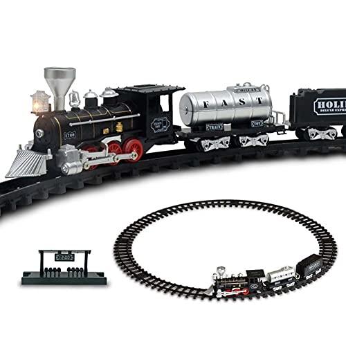 FXQIN Regalo de Tren eléctrico para Navidad, Christmas Train Set de Juguete...