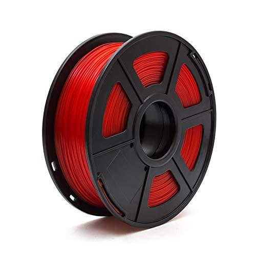 Auartmetion Stampante 3D 1pc Filament PLA 1,75 Millimetri 1kg / 2.2lbs 3D plastica di consumo Materiale 3D filamento USA PLA NatureWorks (Colore : Rosso)