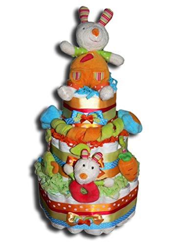 Tarta de pañales mágica – Tarta de pañales para fiesta de cumpleaños para niños, niñas o neutro, regalo para baby shower, bautizo, nacimiento