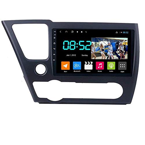 Android 8.1 Navegación GPS Auto Radio 9' 1080P Touch Screen Estéreo para Honda Civic 2014-2017, con control en el volante, Bluetooth Hands-Free Calls Mirror Link DAB SWC, 8 núcleos: 4G + WiFi 4G + 64G