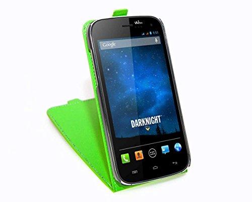 caseroxx Flip Cover für Wiko Darknight, Tasche (Flip Cover in grün)