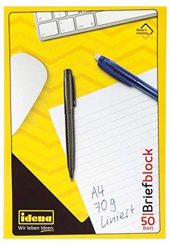 Briefblöcke liniert DIN A4 / 50 Blatt je Block 10er Packung + 1 Kugelschreiber