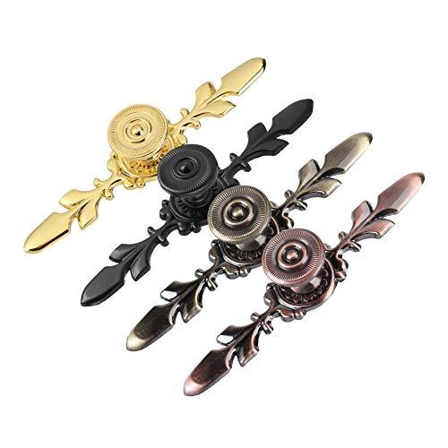 lyrlody 120 mm meubelknoppen deurknop kastknoppen meubelknop schuifladenknoppen voor kast, lade, commode, sieradendoos, houten kisten zwart