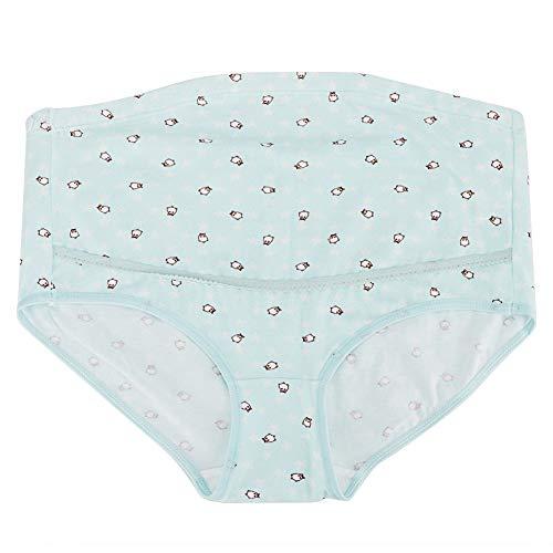 Moederschap broekje zwangerschapsvrouwen hoge taille beer ondergoed verzorging katoenen wasgoed overbump brieven XX-Large blauw