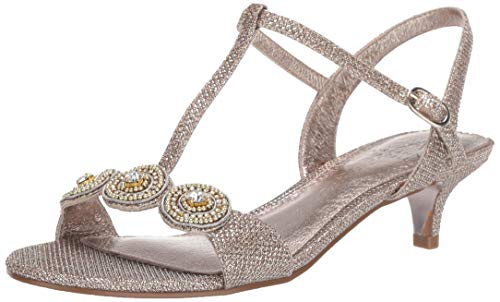 Adrianna Papell Women's Tacy Heeled Sandal, Platino, 10 M US