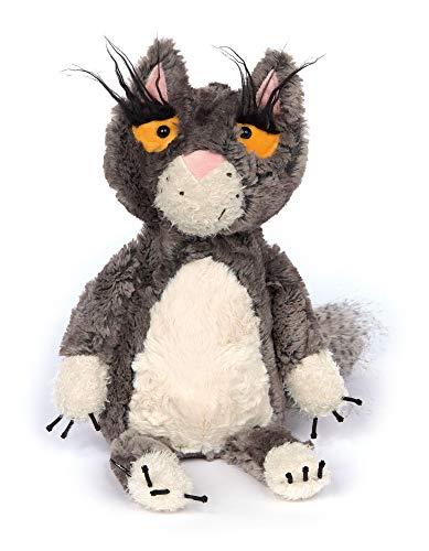 Sigikid Katze - Bad Cat, BeastsTown, Kuscheltier für Erwachsene und Kinder, grau/weiß, 39307
