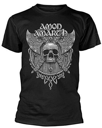 Tengyuntong Camisetas y Tops Polos y Camisas, Camiseta Grey Skull '(Negra) - ¡Nueva y Oficial!