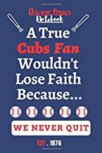 Chicago Cubs notebook - MLB notebook - MLB fans: 6x9 inch, 120 pages, blank line, notepad, journal, MLB fan ,  Major League Baseball Opening Day