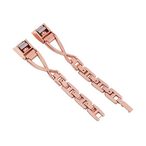 Filfeel - Cinturino di ricambio per Fitbit Alta/Alta HR, in acciaio INOX, colore: Rosa