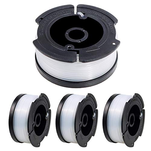 FIXITOK 4 Stücke Fadenspulen für Black Decker Trimmer Spulen Rasentrimmer Spulen 9,1m Länge Nylon Fadenspulen 1.65mm Fadendurchmesser