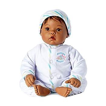 Madame Alexander 19  Baby Face Doll Medium Skin Tone Black Hair