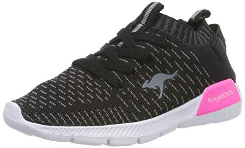KangaROOS Unisex-Kinder K-Sock II Sneaker, Schwarz (Jet Black/Daisy Pink), 30 EU