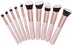 Bộ cọ trang điểm 10 cây cao cấp Kabuki Makeup Brush Set – Foundation Powder Blush Concealer Contour Brushes – Perfect For Liquid, Cream or Mineral Products – 10 Pc Collection With Premium Synthetic Bristles For Eye and Face Cosmetic