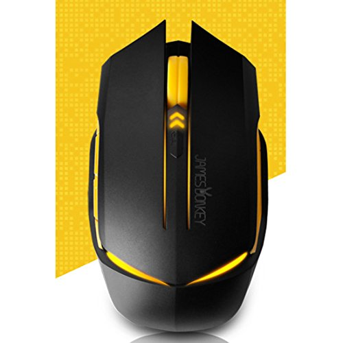 NEW Wired Gaming Mice James Donkey 112 Black Color Optical 2000DPI USB Mice LED Tuning