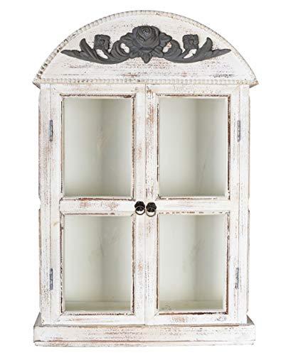 Wandvitrine Shabby Chic Wandschrank Vitrine Antik Hängevitrine Vintage sod032 Palazzo Exklusiv