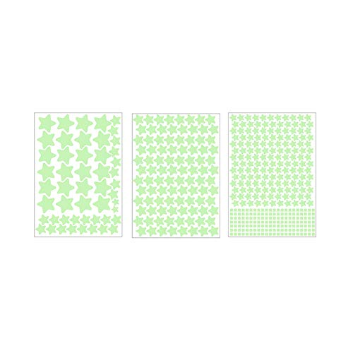 Ruiting - Adhesivos Decorativos para Pared, diseño de Estrella Fluorescente