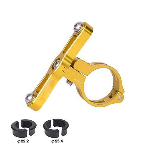 Yubingqin Abrazadera para botella de agua para bicicleta de carretera, soporte para jaula al aire libre, adaptador de soporte para manillar de transición (color dorado)