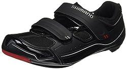 SHIMANO Unisex Adult SH-R065L Cycling Shoes - Road Bike, Black (Black), 44 EU