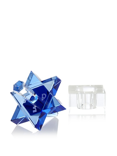 Find Discount Copa Judaica Cobalt Blue Crystal Star of David Jewish Dreidel with Crystal Clear Base ...