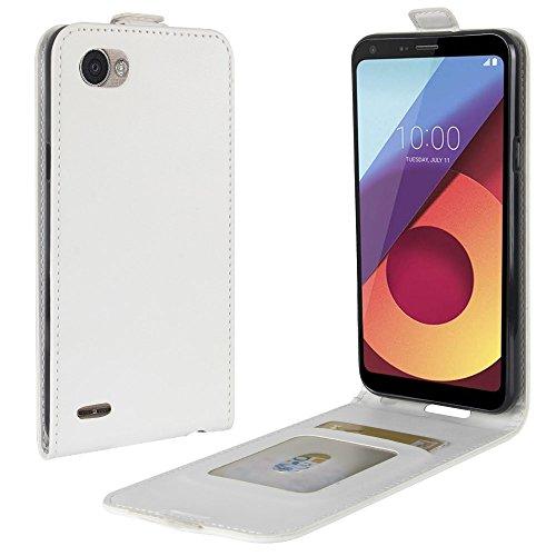 Funda® Capirotazo Billetera LG Q6 Plus/LG Q6 (Blanco)