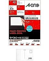 エーワン ラベルシール プリンタ兼用 キレイにはがせる 4面 10枚 31264 (× 2 パック) + 画材屋ドットコム ポストカードA