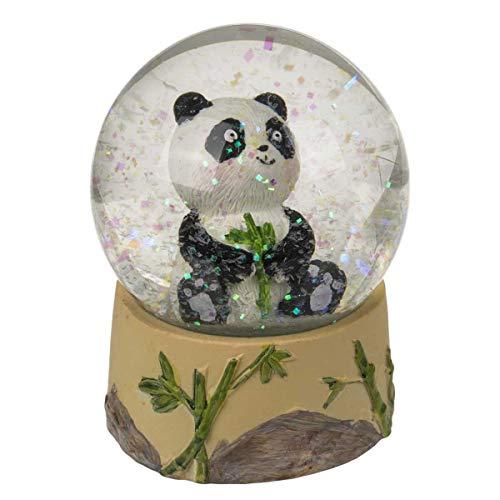 Schüttelkugel Sitzender Panda, zufällige Auswahl aus 4 ähnlichen Motiven, Maße (H x B): 8,5 x 6,5 cm, Material: Polyresin, Glas, Glitzerkugel/Schneekugel als hübsche Dekofigur für Schreibtisch & Co
