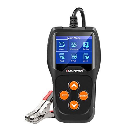 prasku Prueba de Voltaje de Forma de Onda del Probador de Carga de Batería de Coche Profesional KW600 12V
