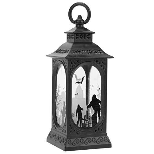 SOLUSTRE 3 Stück Halloween Wasserlaterne Kürbis Hexe Zombie Schneekugel Flammenlose Kerzen Lampe Nachtlicht Halloween Spukhaus Dekoration für Halloween Partyzubehör