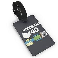 Woodstock ネームタグ 荷物タグ バッグ用ネームタグ ネームプレート 紛失防止 出張 普段 リング付き 耐久 ファッション