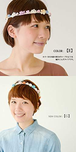 (カジュアルボックス)CasualBoxcorollaフラワーブーケカチューシャターバン8色フリーサイズレディース帽子charmチャーム(G(オレンジ系))