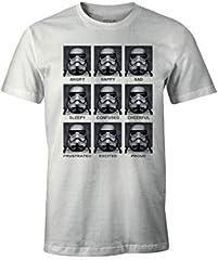 Star Wars Trooper Emotions Camiseta Blanc para Hombre
