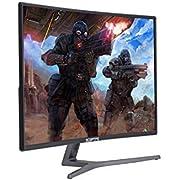 Sceptre C248B-144R 24-Inch Curved 144Hz Gaming Monitor HDMI DisplayPort DVI, Metal Black 2018